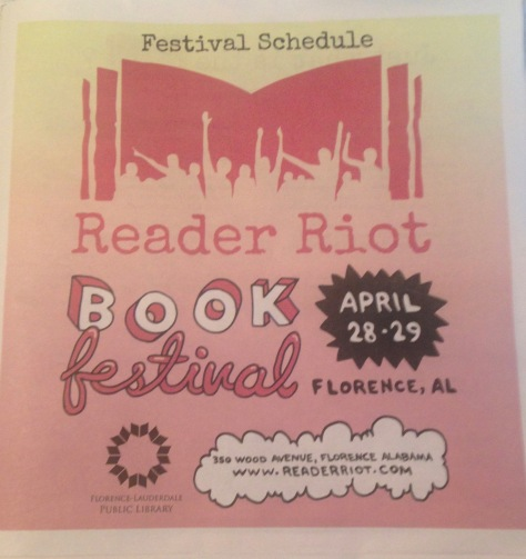 Front Page of Reader Riot Book Festival Schedule